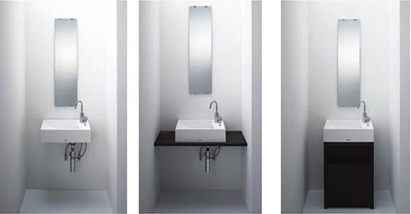 Panasonicの洗面台、アクアフィニチャー 洗面台リフォーム、リノベーション