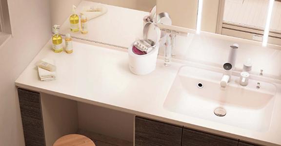 Panasonicの洗面台、シーライン 洗面台リフォーム、リノベーション