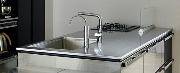 クリナップのキッチン セントロのリフォーム 水回り交換