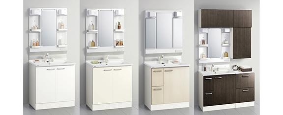 クリナップの洗面台、bga_imgシリーズ 洗面台リフォーム、リノベーション