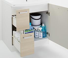 クリナップの洗面化粧台、水回り交換 ファンシオ