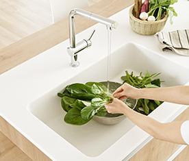 リクシルのキッチンリフォーム、リシェルPLAT、水回り交換