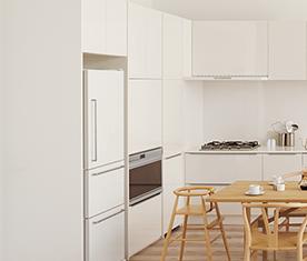 リクシルのキッチン、リシェルPLAT キッチン交換、リノベーション