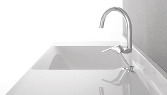 リクシルの洗面台、エスタ 洗面台リフォーム、リノベーション