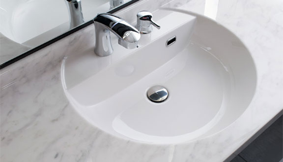 リクシルの洗面台、ルミシス/ボウル一体タイプ 洗面台リフォーム、リノベーション
