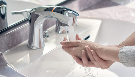 リクシルの洗面化粧台交換、水回り交換 ルミシス/ボウル一体タイプ