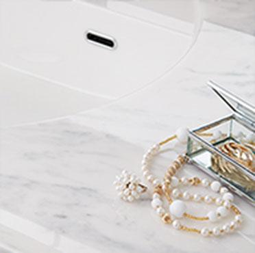 リクシルの洗面台リフォーム、水回り交換 ルミシス/ボウル一体タイプ