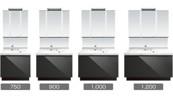 リクシルの洗面台、ルミシスセレクト 洗面台リフォーム、リノベーション