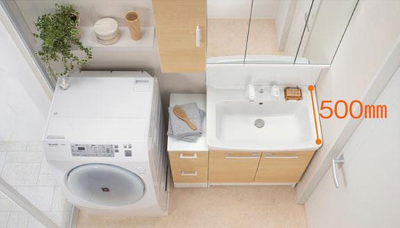 リクシルの洗面台、オフト 洗面台リフォーム、リノベーション
