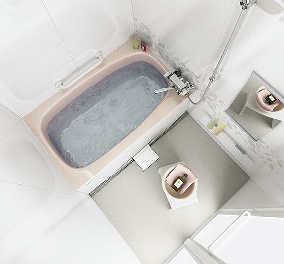 タカラスタンダードのお風呂、伸びの美浴室 水回り交換