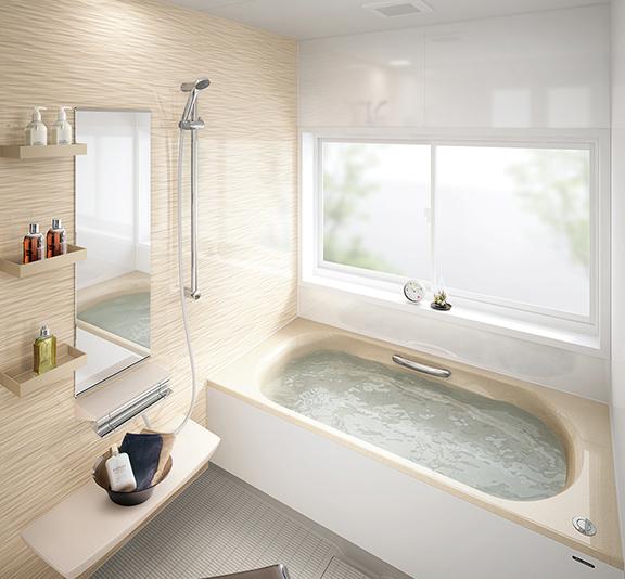 タカラスタンダードのお風呂、キープクリーン浴槽 レラージュライト リノベーション、リフォーム