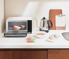 ウッドワンのキッチン、ちっちゃいスイージー 水回りリフォーム、リノベーション