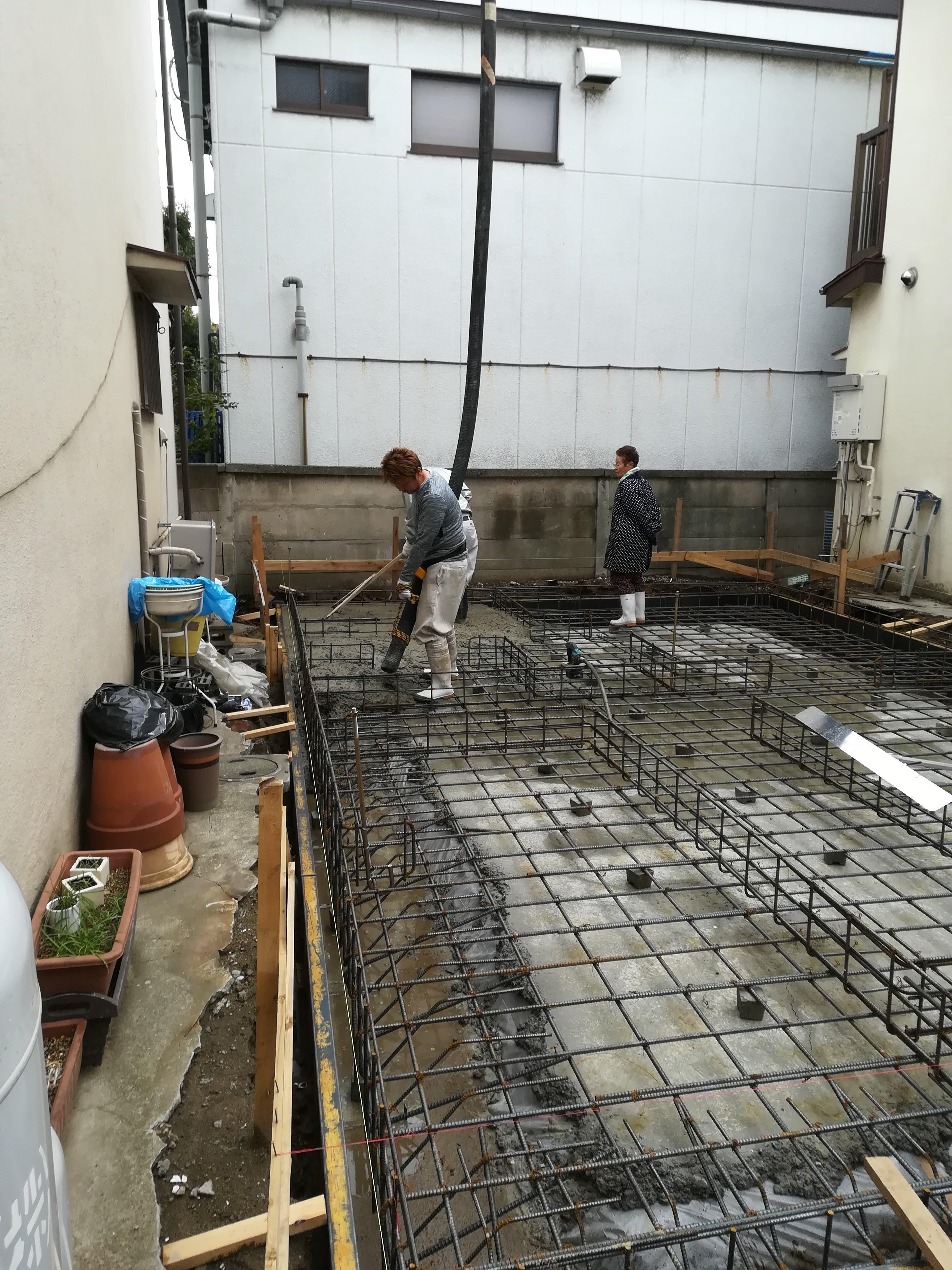 コンクリート打設 基礎工事は優良建設会社